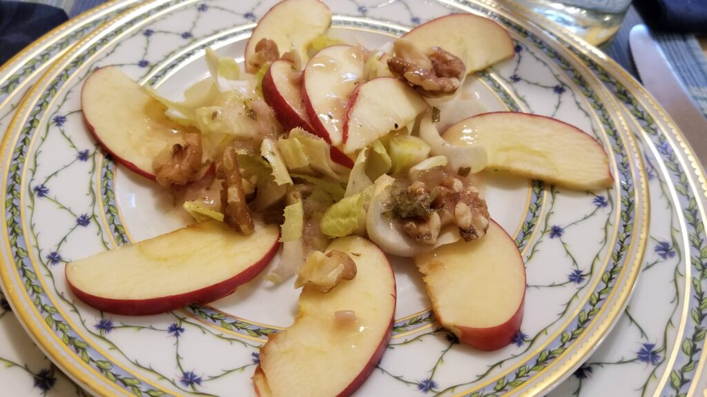 Belgian Endive Salad with Apples and Walnuts