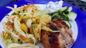 Bahamas chicken & slaw close up